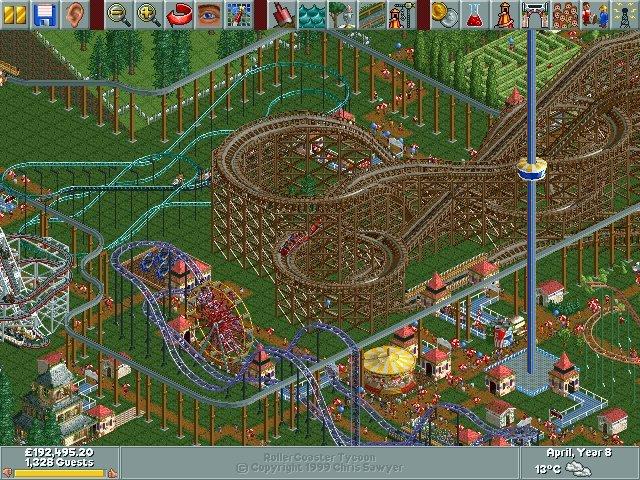 Juego RollerCoaster Tycoon de Windows/DOS Nosplay, red