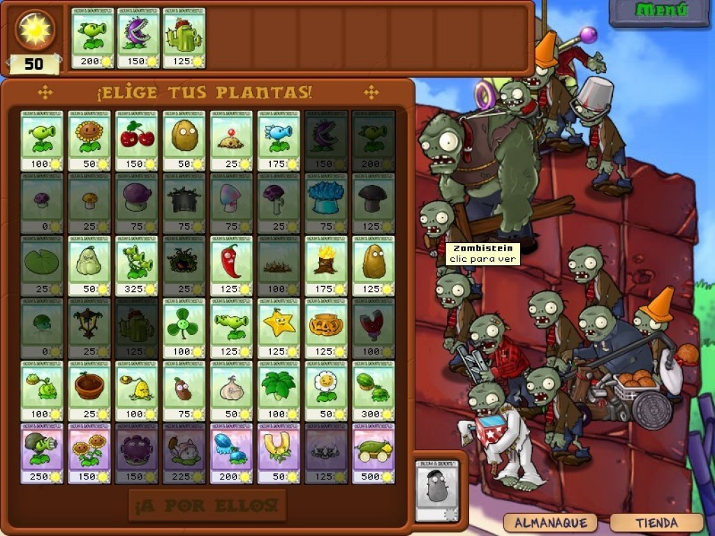 Plantas V/S Zombie Full Español Pc (Portable) - Identi